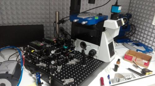 optical detection for AFM being built